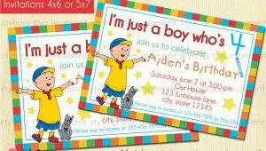 Caillou Birthday Invitations Caillou Birthday Invitation