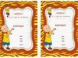 Caillou Birthday Invitations Caillou Birthday Invitations Birthday Printable