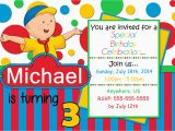 Caillou Birthday Invitations Caillou Birthday Invitations Partyexpressinvitations