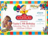 Caillou Birthday Invitations Caillou Birthday Party Invitation Custom Personalized