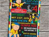 Caillou Birthday Invitations Caillou Birthday Party Invitation Digital by Dottydigitalparty