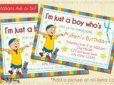 Caillou Birthday Party Invitations Caillou Birthday Invitation