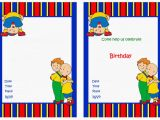 Caillou Birthday Party Invitations Caillou Birthday Invitations Birthday Printable