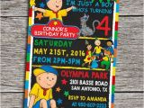 Caillou Birthday Party Invitations Caillou Birthday Party Invitation Digital by Dottydigitalparty
