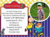 Caillou Birthday Party Invitations Items Similar to Caillou Birthday Party Invitation On Etsy