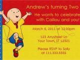 Caillou Birthday Party Invitations Printable Caillou Birthday Invitation