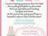 Cake Decorating Birthday Party Invitations Cake Decorating Invitations Set Of 20 Invitations