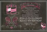 Cake Decorating Birthday Party Invitations It 39 S Fun 4 Me Cake Decorating 9th Birthday Party