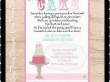 Cake Decorating Birthday Party Invitations Let 39 S Eat Cake Printable Invitations Printable Cake