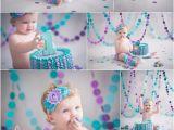 Cake Smash Ideas for 1st Birthday Girl Purple and Teal 1st Birthday Cake Smash Girly Birthday
