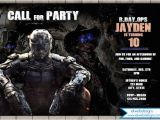 Call Of Duty Birthday Invitations Call Of Duty Birthday Invitation Black Ops 3 Party