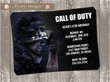 Call Of Duty Birthday Invitations Call Of Duty Birthday Invitation Digital File by