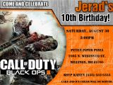 Call Of Duty Birthday Invitations Call Of Duty Black Ops 3 Birthday Invitation Kustom