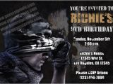 Call Of Duty Birthday Invitations Call Of Duty Invitations From General Prints