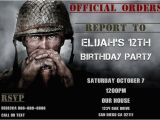 Call Of Duty Birthday Invitations Call Of Duty Wwii Birthday Invitation Personalized