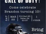 Call Of Duty Birthday Invitations the Invitation Was Done A Call Of Duty Birthday Party