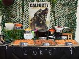 Call Of Duty Birthday Party Decorations Call Of Duty Birthday Party Birthday Party Pinterest
