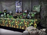 Call Of Duty Birthday Party Decorations Call Of Duty Military Birthday Party Ideas Photo 4 Of 11