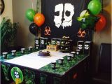 Call Of Duty Birthday Party Decorations Homemade Call Of Duty Ghosts Birthday Decorations Call