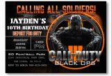 Call Of Duty Birthday Party Invitations Black Ops Birthday Invitations Invitation Librarry