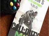 Call Of Duty Birthday Party Invitations Call Of Duty Xbox theme Birthday Party Invitations