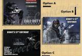 Call Of Duty Birthday Party Invitations Diy Printable Custom Birthday Party Invitation Call Of