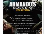 Call Of Duty Black Ops Birthday Invitations 8 Call Of Duty Black Ops Birthday Party Invitations Ebay