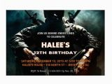 Call Of Duty Black Ops Birthday Invitations Call Of Duty Black Ops Personalized Birthday Party Invitations
