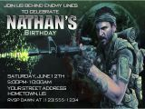 Call Of Duty Black Ops Birthday Invitations Diy Call Of Duty Invitations Party Invitations Ideas