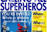 Calling All Superheroes Birthday Invitation 17 Best Images About Superhero Birthday Parties On