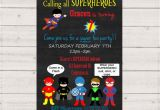 Calling All Superheroes Birthday Invitation Calling All Superheroes Birthday Invitation Printable Inv001