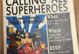 Calling All Superheroes Birthday Invitation Newspaper Invitation Superhero Invitation Daily