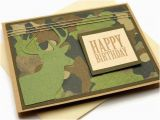 Camo Birthday Cards Deer Birthday Card Camouflage Birthday Card Cards for