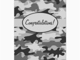 Camo Birthday Cards Grey Black Camo Camouflage Congratulations Custom Card