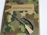 Camo Birthday Cards Hunting Birthday Card Camouflage