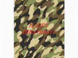 Camo Birthday Cards Military Camouflage Birthday Card Zazzle