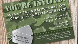 Camo Birthday Invites Camo Birthday Invitation Diy Printable Invitation Army
