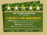 Camo Birthday Invites Camouflage Birthday Invitation Printable or Printed with Free