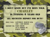 Camo Birthday Invites Camouflage Birthday Invitations Template Best Template