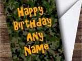 Camouflage Birthday Cards Camouflage Army soldier Personalised Birthday Card the