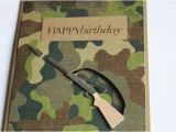 Camouflage Birthday Cards Hunting Birthday Card Camouflage