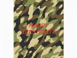 Camouflage Birthday Cards Military Camouflage Birthday Card Zazzle
