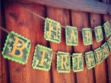 Camouflage Happy Birthday Banner Camo Happy Birthday Banner Camouflage Banner with orange