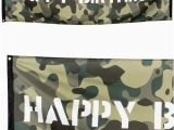 Camouflage Happy Birthday Banner Camouflage 39 Happy Birthday 39 Fabric Banner 2 2m Party Packs