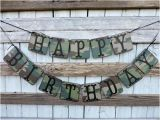 Camouflage Happy Birthday Banner Camouflage Happy Birthday Banner Masculine Birthday