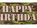 Camouflage Happy Birthday Banner Camouflage Happy Birthday Plastic Party Banner What 39 S It