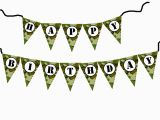 Camouflage Happy Birthday Banner Diy Army Military Camouflage Birthday Banner Printable File