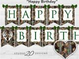 Camouflage Happy Birthday Banner Instant Download Camo Birthday Banner Camo Happy Birthday