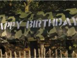 Camouflage Happy Birthday Banner Large Jungle Army Camouflage Camo Decoration Happy
