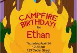Campfire Birthday Party Invitations Campfire Birthday Invitation Printable Design Customizable